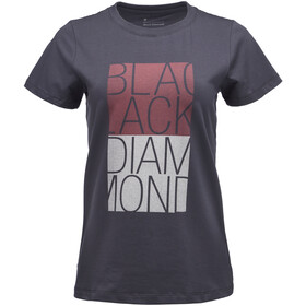 Black Diamond Block SS Tee Dame carbon